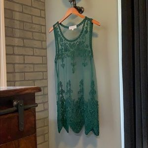 NWOT Pretty Angel Green Tunic